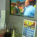 Tv in booth