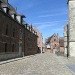A quiet street in Leuven's Groot Begijnhof