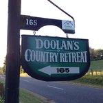Entrance to Doolan's driveway