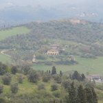 Beautiful view of Tuscany on the drive