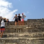 on top of one of the mounds/pyramids