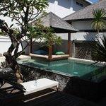 Our pool, private villa