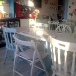 Lovely ambiance for seaside bistro cafe