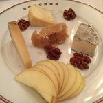 Cheese appetizer plate