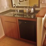 wet bar with sink & mini fridge