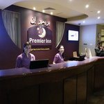 Premier inn reception with Miss. Chaima (the first young lady)