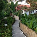 Beautiful gardens but lots of stairs.