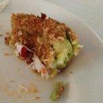 Last few bites of Panko fried avocado