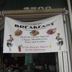 Sign for Breakfast