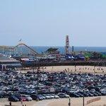Santa Monica Pier across the road