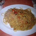 Spaghetti con frutto di mare domenicano!