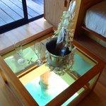 Free wine for us honeymooners!