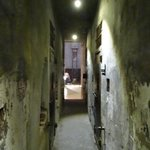 Inside death row looking towards guillotine