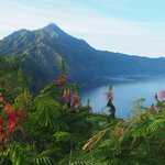 Magnificent view of mount Abang