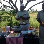 our suprise Champagne breakfast in the bush