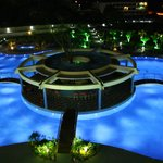 Swimming pools at night