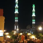The Mosque Towers at the End of the Marina