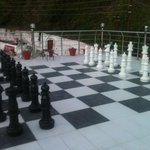 Gaint chess on the roof