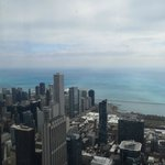 Looking out over Lake Michigan from Willis Tower Skydeck