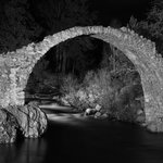 The reason it is called Carrbridge - taken at midnight