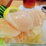 Hokkaido Scallop Sashimi with Yuzu Sorbet