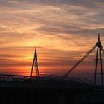 Sunset over the Millennium Stadium
