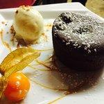 Fondant chocolat intense, glace vanille