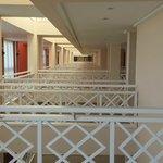 Walkways to each room 3rd floor