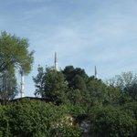 la mosquée bleue, vue de la terrasse