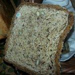 Hotel delicacy - brown moldy bread