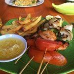 Mix grill seafood