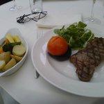 Sirloin Steak & Seasonal Veg