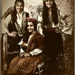 These beautifull sisters from Spain are enjoying the feal of dressing as young ladies as they di