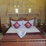 Jaisalmer Room - lined with exquisite carvings in Jaisalmer sandstone.