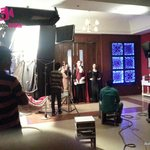 On the sets of a studio