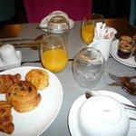 mesa del desayuno