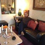 En el salon del Riad