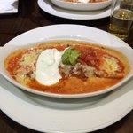 Chicken Enchilada. (The chicken was awful)