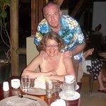 Yveline et Serge au restaurant