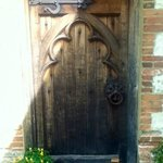 Lovely old door at rear of house