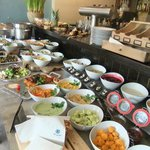 the vegan buffet!