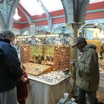 Camden Lock Market - 2nd Floor - this is the carved stone necklace vendor