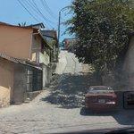 A street downtown Copan Ruinas.  STEEP!!