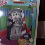 Visiting the easter bunny