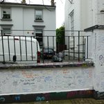 Abbey Road Studios - the graffiti wall was interesting