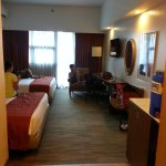 large room and beds