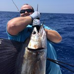 My first sailfish with Pepe