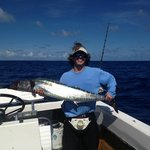 a samll wahoo caught on a offshore day