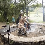 A special Argentine BBQ they prepared for lunch one day