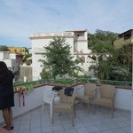 the neighbouring balcony